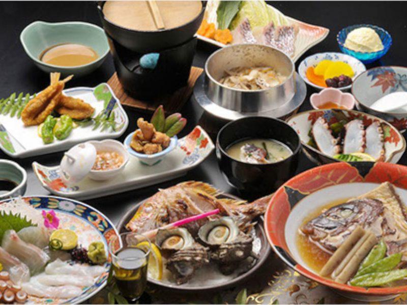 倉敷みらい旅 宿泊前売券35%割引プラン 魚づくし宝楽焼コース