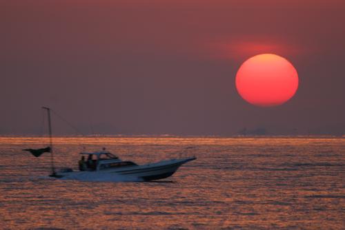 瀬戸内海の日の出