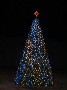 星に祈りを、児島市民交流センタークリスマスツリー