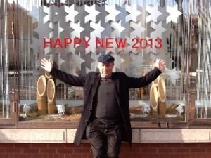 街中オブジェHappy New Year!
