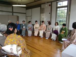 着物でそぞろ歩きと観光茶席が開催されました。