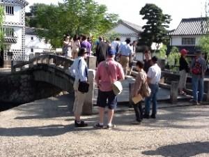 クライストチャーチ市民訪問団が「くらしき川舟流し」を体験