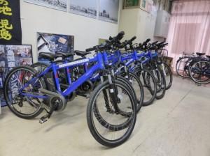 電動アシスト付き自転車が導入されました