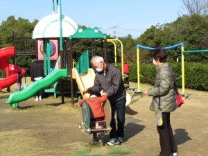 水島緑地福田公園でストレッチ♪