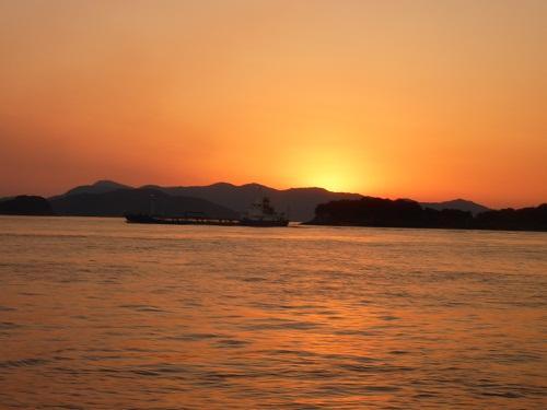 水島コンビナート夜景と瀬戸内の夕陽クルージング2010