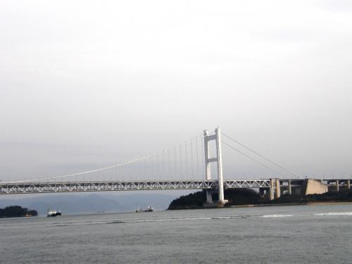 本土側から眺める瀬戸大橋