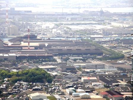 水島工業地帯の遠望