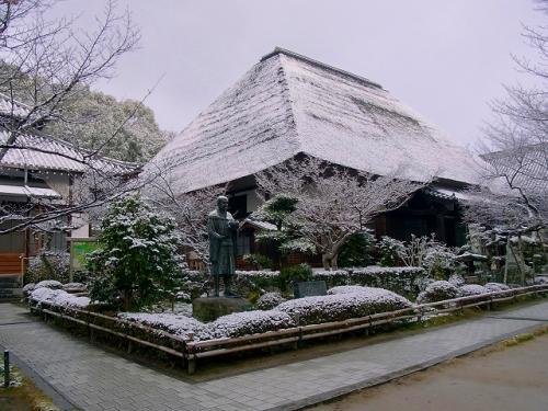 雪の備中玉島円通寺