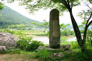 真備町・琴弾岩と鈴木豹軒漢詩碑