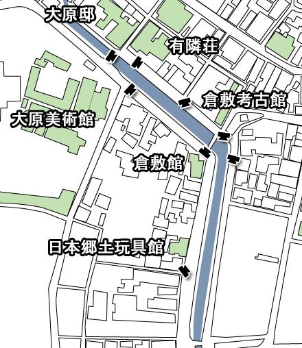 倉敷川畔マップ