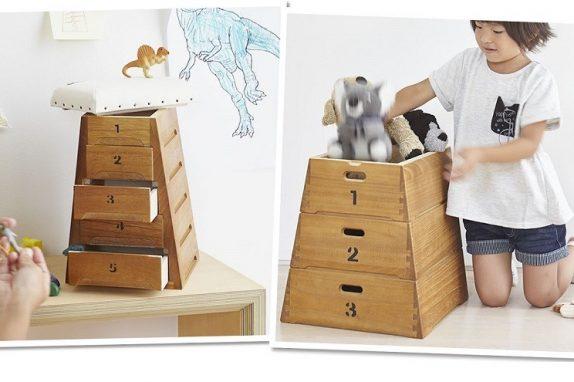 昔懐かしい「とび箱」が収納BOXになりました。