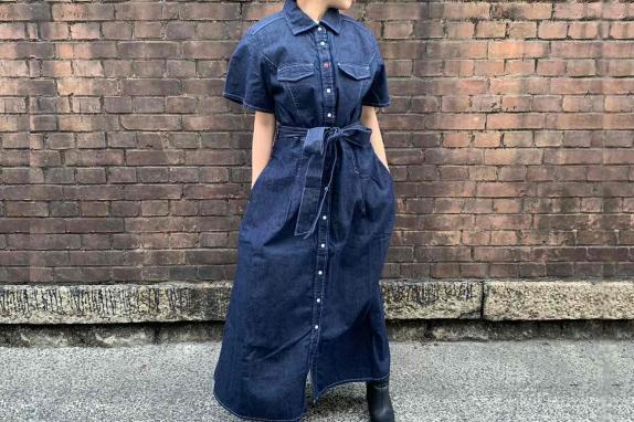 半袖レトロワンピース(¥18,700-)