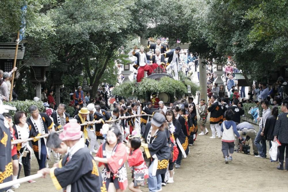 鴻八幡宮例大祭(しゃぎり)の写真2