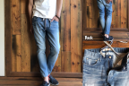 404XXE BONE JERSEY DENIM<br /> JOGGER PANTS/BS-S2-RDP04