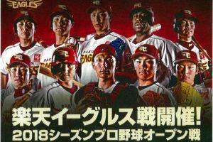 プロ野球オープン戦「みんなで行こう!!プロ野球in倉敷」