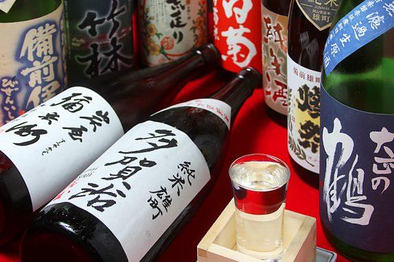 岡山の地酒はもちろん、日本酒が20種類以上そろいます