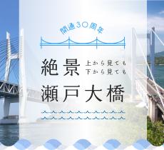 開通30周年!上から見ても下から見ても絶景瀬戸大橋