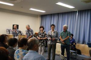 リニューアルオープンした岡田分館での歌声喫茶