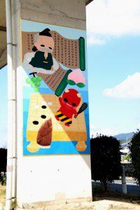 倉敷市 真備の橋脚壁画、玉島の写真展