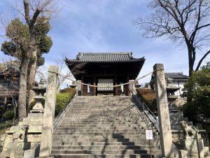 春を感じる阿智神社